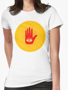 Hand and eye Womens Fitted T-Shirt