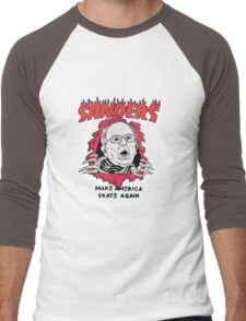 Bernie Sanders - Make America Skate Again Men's Baseball ¾ T-Shirt