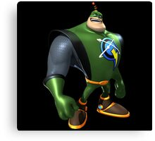 Captain Qwark From Ratchet And Clank Film Canvas Print
