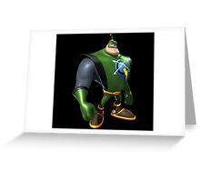 Captain Qwark From Ratchet And Clank Film Greeting Card