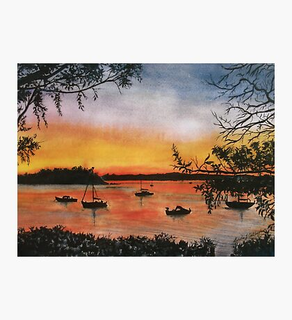 Sunset at Shoal Bay, Australia Photographic Print