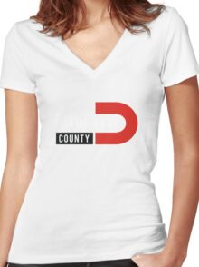 Miami-Wade County Women's Fitted V-Neck T-Shirt
