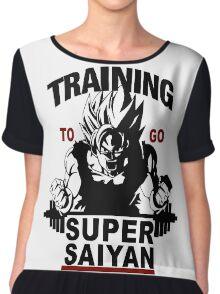 Training to go Super Saiyan Chiffon Top