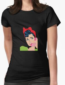 pin up girl Womens Fitted T-Shirt