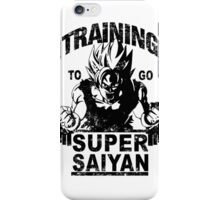 Training to go ssj (vintage) iPhone Case/Skin