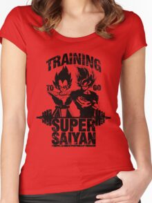 Training to go ssj - vintage Women's Fitted Scoop T-Shirt