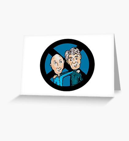 Magneto and Professor X: Old Friends Greeting Card