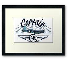 Corsair F4U Framed Print