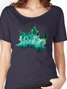 Forest Leaf Women's Relaxed Fit T-Shirt