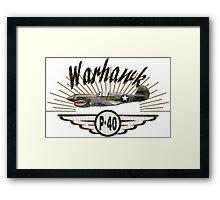 Warhawk P-40 Framed Print