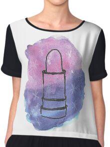 Space Lippy Chiffon Top