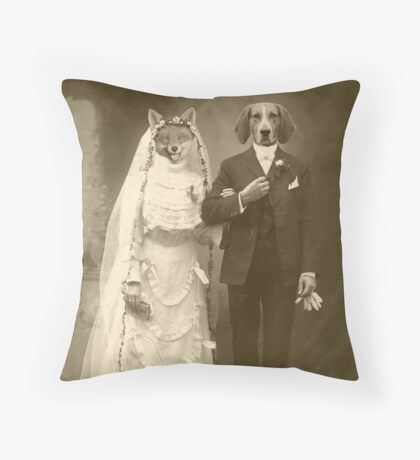 A marriage not made in heaven Throw Pillow
