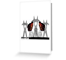 Powerlines with guns Greeting Card