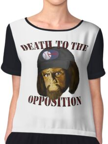 Death to the Opposition Chiffon Top