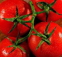 Vine Ripened Tomatoes by Ersu Yuceturk
