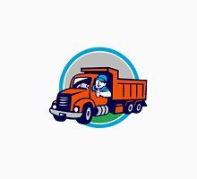 Dump Truck Driver Thumbs Up Circle Cartoon Unisex T-Shirt