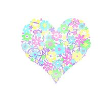 Flowers from the Heart (pastel) Photographic Print
