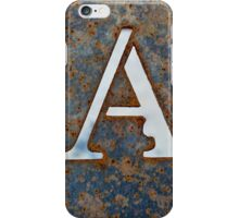 A letter iPhone Case/Skin