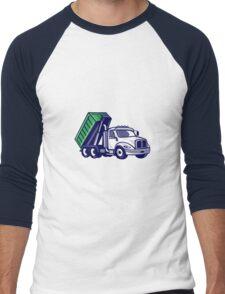 Roll-Off Truck Bin Truck Cartoon Men's Baseball ¾ T-Shirt