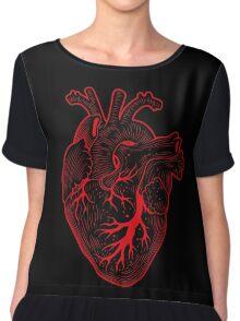 HEART Women's Chiffon Top
