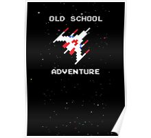 Old School Adventure - Galaga Space Arcade - Action Pew Retro Poster