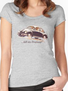 Beetle Car keeps the Lead (V.1) Women's Fitted Scoop T-Shirt