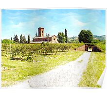 Pieve di Tho: country Poster