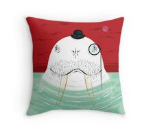 Sir Wilfred Wallace The Wonderful White Walrus Throw Pillow