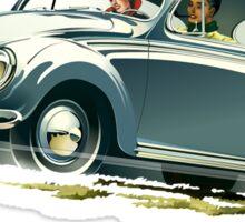 Beetle Car keeps the Lead (V.2) Sticker
