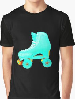 Blue Roller Skate Graphic T-Shirt