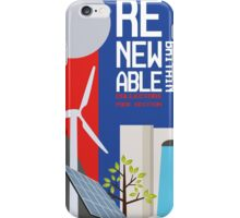 Renewable britain iPhone Case/Skin