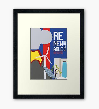 Renewable britain Framed Print