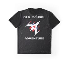 Old School Adventure - Galaga Space Arcade - Action Pew Retro Graphic T-Shirt