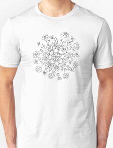 Flower Mandala (black line) Unisex T-Shirt