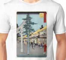 Mishima  - Hiroshige Ando - 1855 - woodcut Unisex T-Shirt