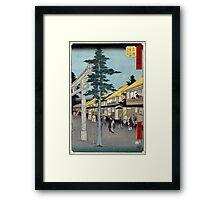 Mishima  - Hiroshige Ando - 1855 - woodcut Framed Print