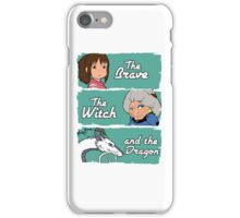 The brave, the witch and the dragon iPhone Case/Skin