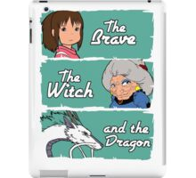 The brave, the witch and the dragon iPad Case/Skin