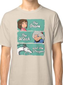 The brave, the witch and the dragon Classic T-Shirt