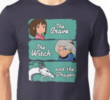 The brave, the witch and the dragon Unisex T-Shirt