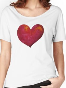 Red Heart Women's Relaxed Fit T-Shirt