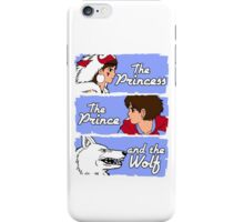 The princess, the prince and the wolf iPhone Case/Skin