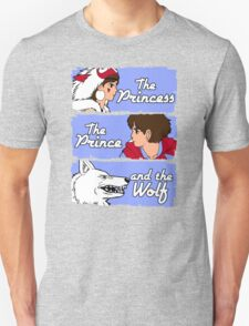The princess, the prince and the wolf Unisex T-Shirt