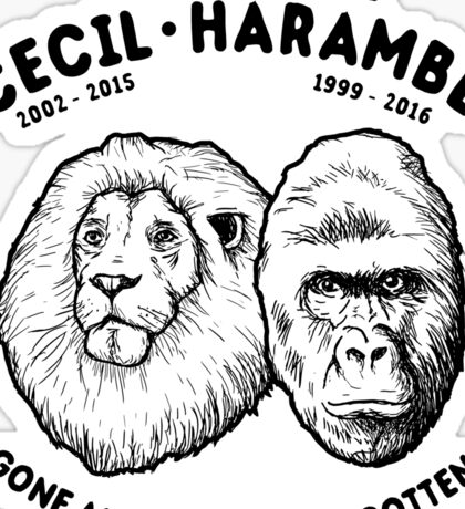 Cecil Harambe Memorial T-Shirt Sticker