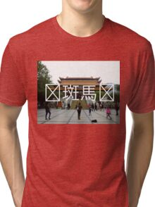 Chinese Writing Po Lin Monastery  Tri-blend T-Shirt