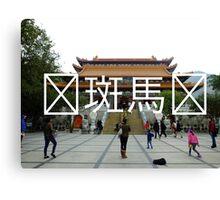 Chinese Writing Po Lin Monastery  Canvas Print