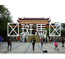 Chinese Writing Po Lin Monastery  Photographic Print