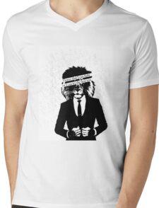 Let the Lion Win Mens V-Neck T-Shirt