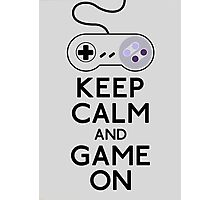 Keep calm and game on Photographic Print
