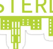 Amsterdam skyline green Sticker